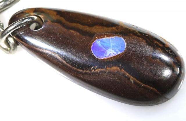 33CTS Australian Yowah Opal KEY Chain LO-3989