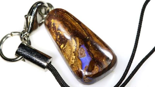 15CTS Australian Yowah Opal phone Chain LO-3994