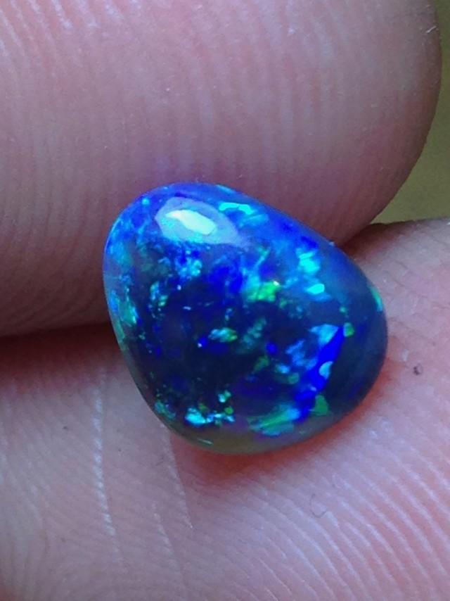 1.21ct Lightning Ridge Gem Black Crystal Opal LR25