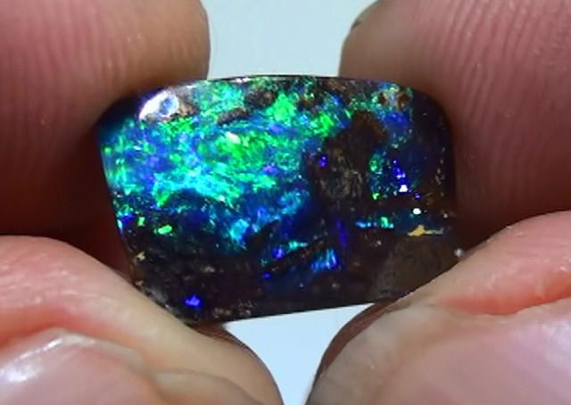 4.85 ct Boulder Opal Opalized Wood With Gem Color