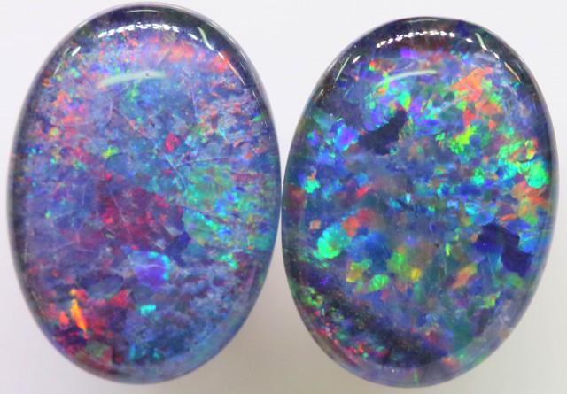 6.5 Cts Pair Gem Australian Triplet Opals BU2407