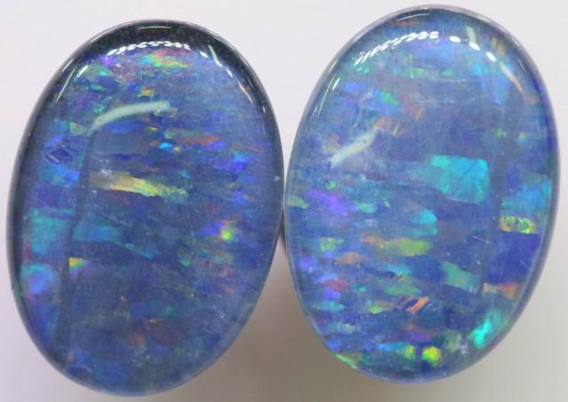 6.5 Cts Pair Gem Australian Triplet Opals BU2409