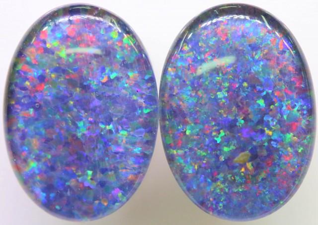 6.5 Cts Pair Gem Australian Triplet Opals BU2410
