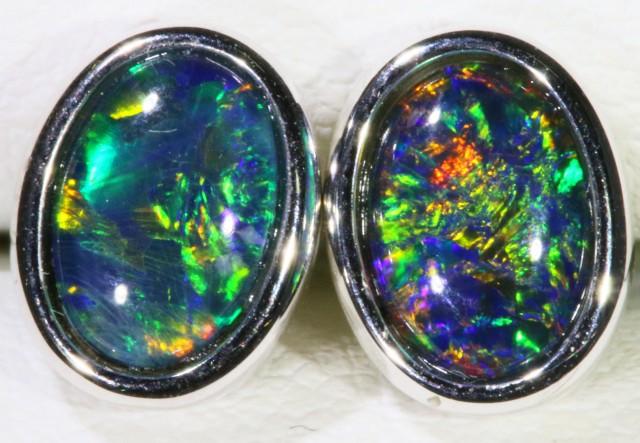 Gem Opal Triplet set in Silver Earring SB 299