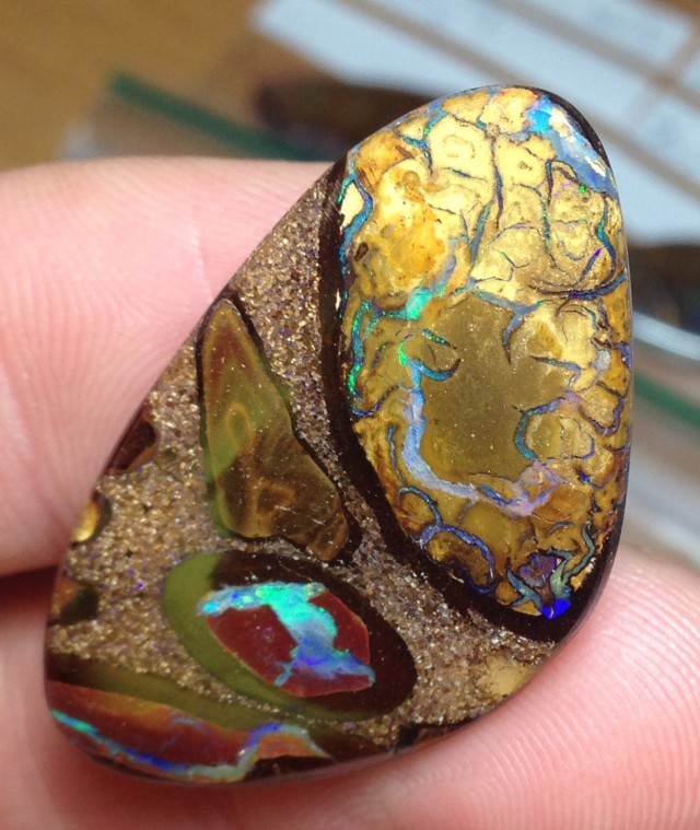 39.5cts Koroit Boulder Opal Picture Stone AC396