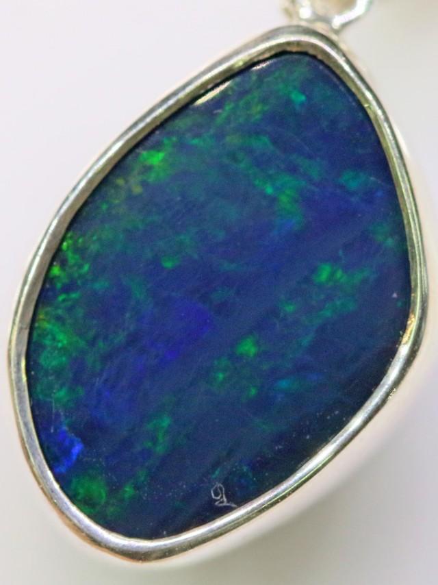 Cute Opal Doublet Pendant in Sterling silver  SB 2