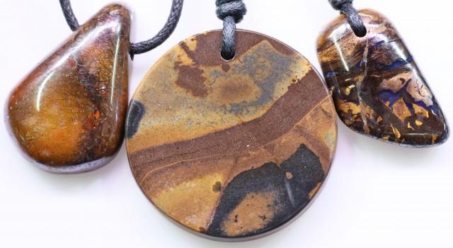 Parcel three  Boulder Opal Pendant  BU 2514