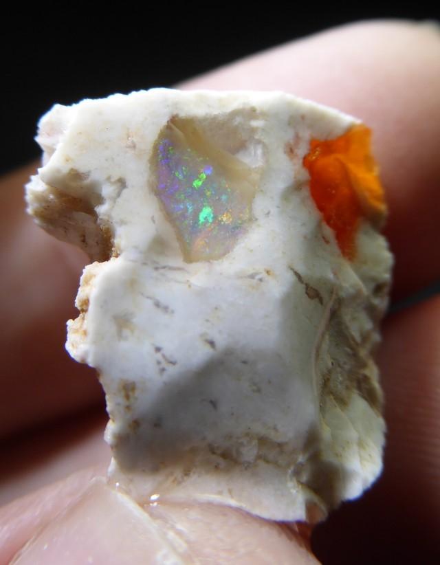 18 Ctw Natural Opal Rough Specimen Mexican Fire Opal