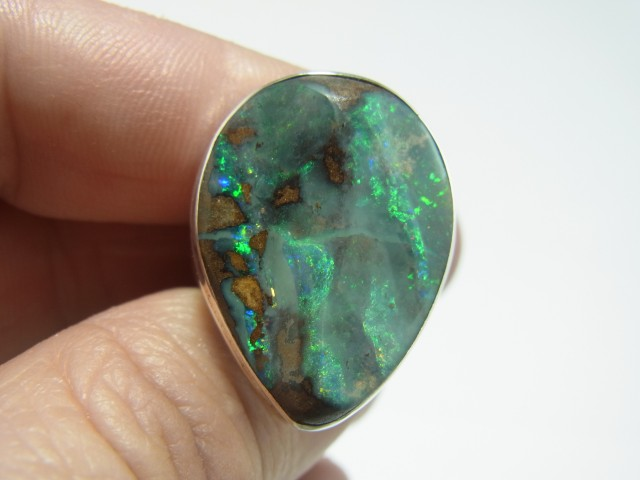 Big chunky boulder opal ring