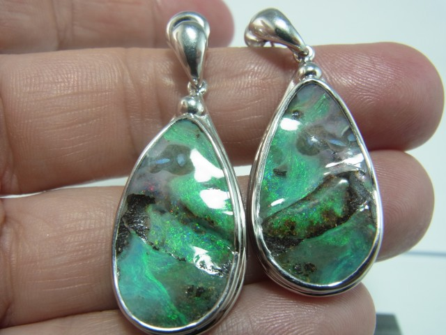 50 ct solid boulder opal earrings