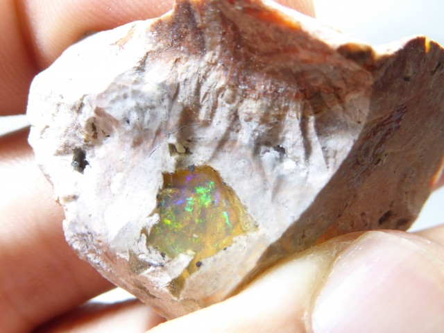 67.5 Ctw Natural Opal Rough Specimen Mexican Fire Opal