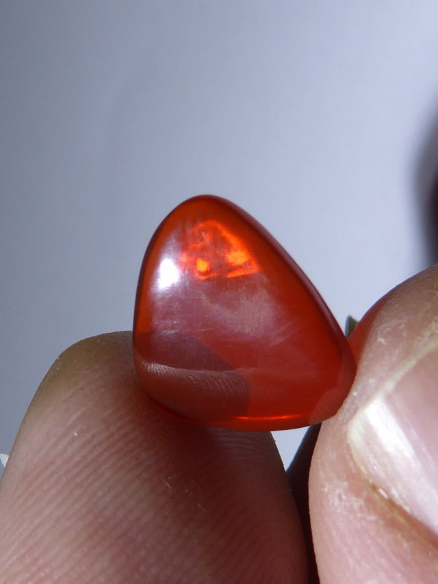 1.5cts. Nice Brilliant Mexican Fire Opal Crystal