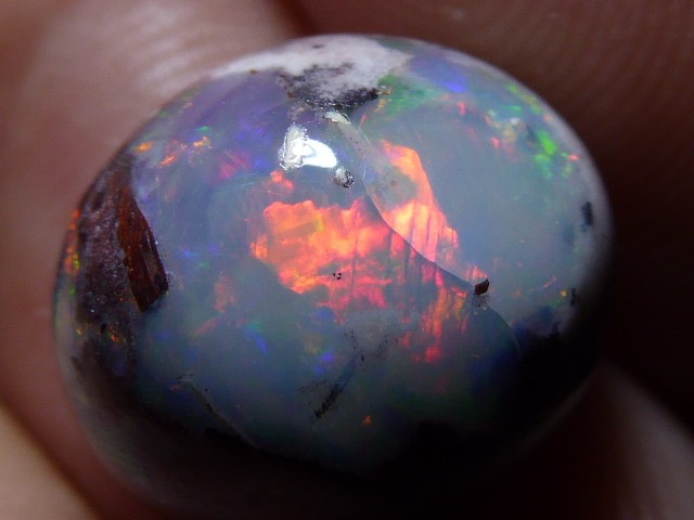 Natural Mexican Matrix Cantera Multicoloured Fire Opal