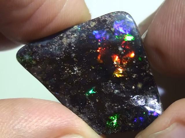 16.05 ct Boulder Opal With Gem Multi Color