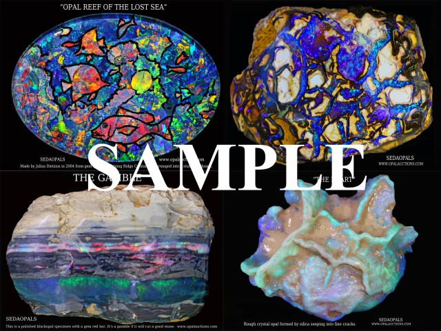 FOUR OPAL POSTERS -QUALITY GLOSSY PAPER
