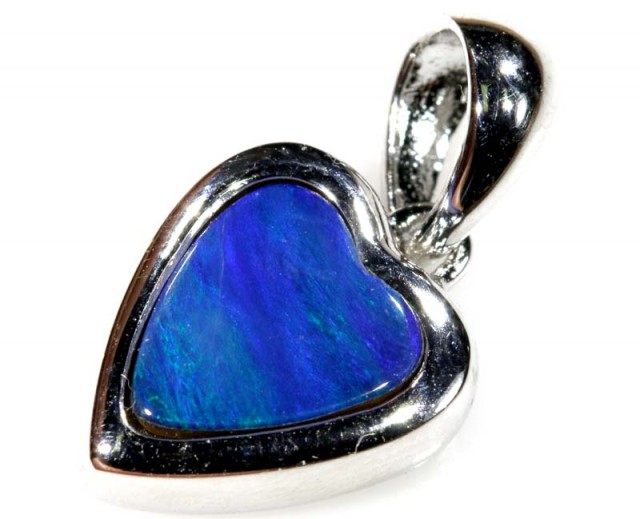 9.70 CTS SILVER DOUBLET OPAL PENDANT OF-1663