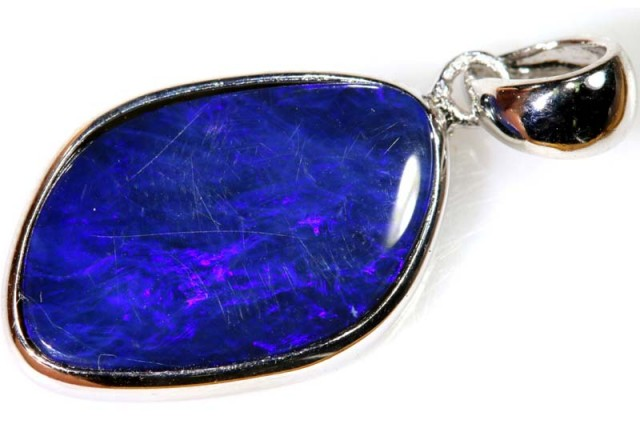 14.45 CTS SILVER DOUBLET OPAL PENDANT OF-1667