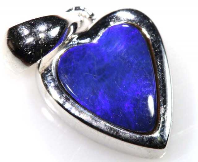 9.75 CTS SILVER DOUBLET OPAL PENDANT OF-1670