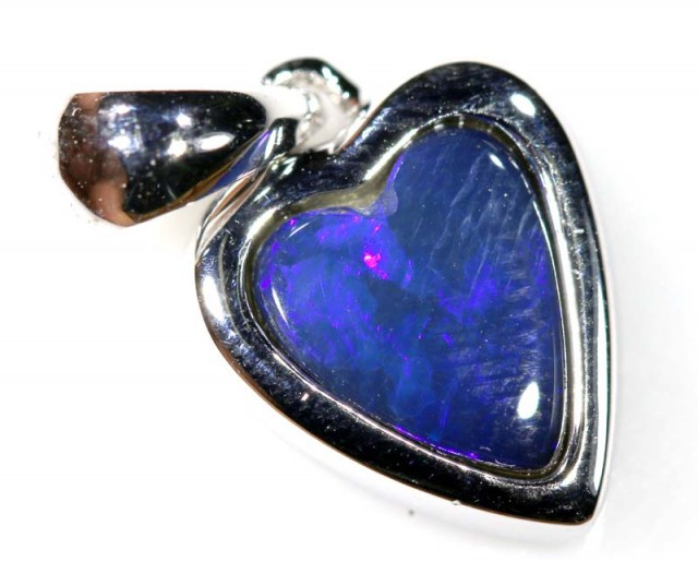 9.70 CTS SILVER DOUBLET OPAL PENDANT OF-1671