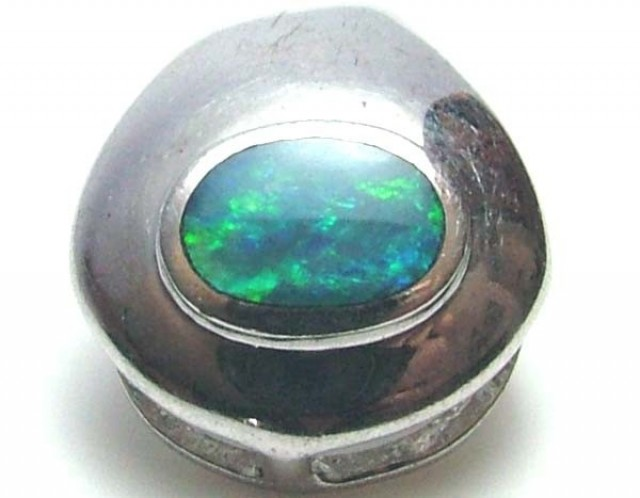 5.5 CTS   DOUBLET OPAL SILVER PENDENT OF-1755