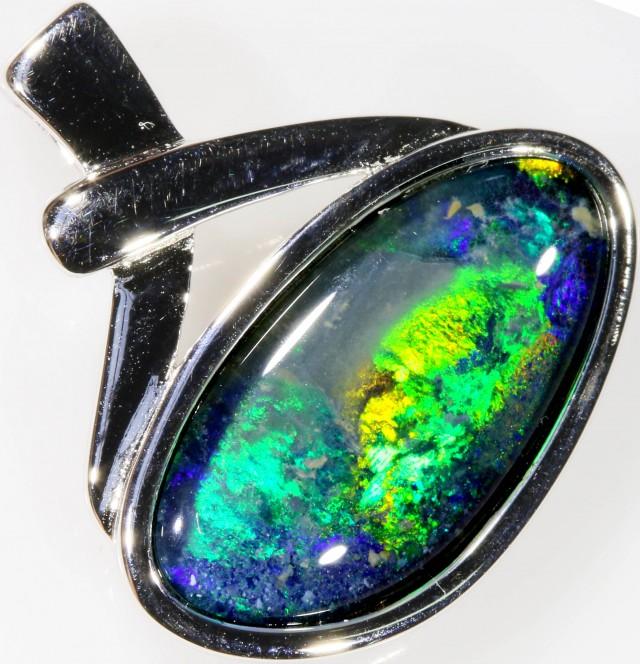 Stylish Triplet Opal Pendant in Sterling Silver  SB 343