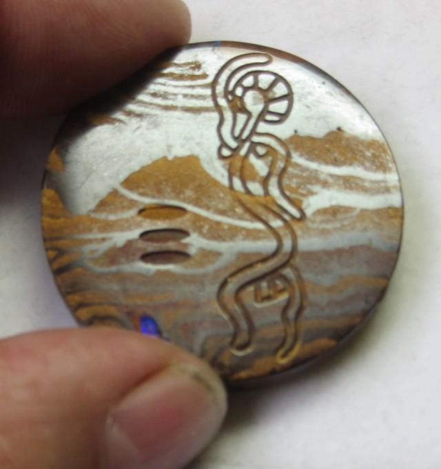 64.2 Aboriginal art on boulder Opal ex Bertas Opal collection PPP 492