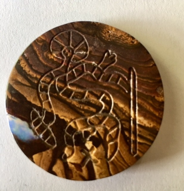77.5 Aboriginal art on boulder Opal ex Bertas Opal collection PPP 497