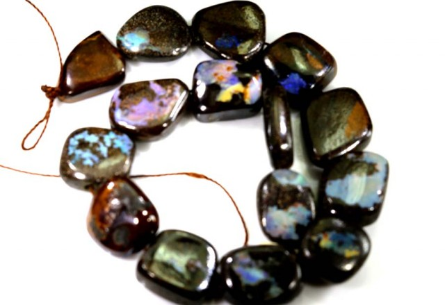 BOULDER OPAL BEADS DRILLED 120.05 CTS TBO-5144