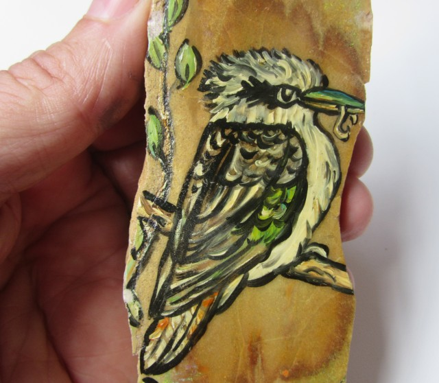 848 cts Cts Kookaburra drawing  on Opal ex Bertas Opal collection PPP