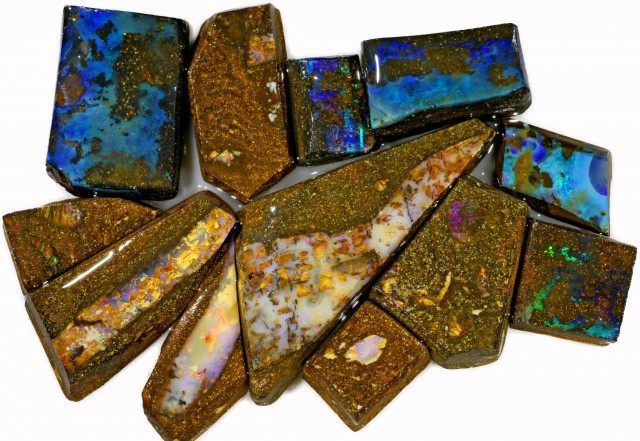 335 CTS MIXED WOOD FOSSIL BOULDER OPAL ROUGH PARCEL- [BY7337]