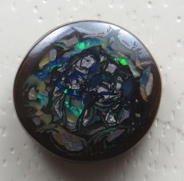 Solid Boulder Opal(222)13.0 ct.