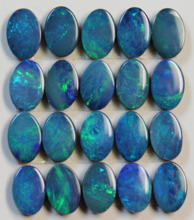 6.63 CTS  -  20 PIECES OPAL DOUBLET CALABRATED SIZE PARCEL D761