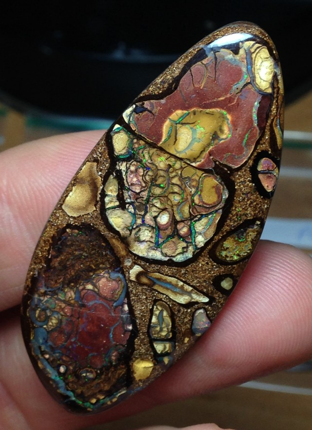 96.5cts Koroit Boulder Opal Picture Stone AC764