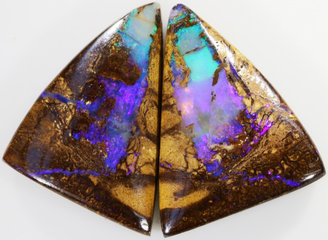 58.75 CTS BOULDER OPAL PAIR -WELL POLISHED [SO7501]