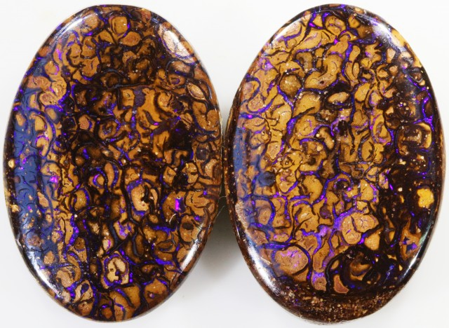 62.7 CTS BOULDER OPAL PAIR -WELL POLISHED [SO7503 ]