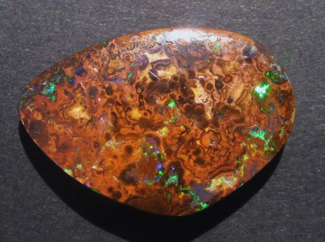 52.6ct Australian Queensland Boulder Opal Solid, 37x24mm