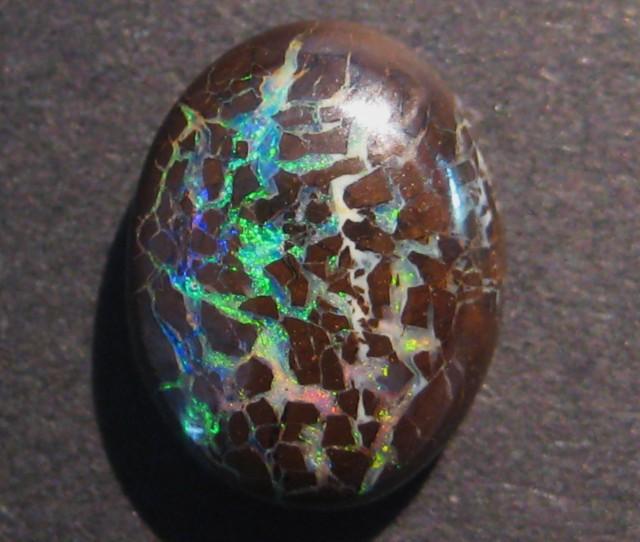 8.3ct Australian Queensland Boulder Opal Solid, 14x10mm