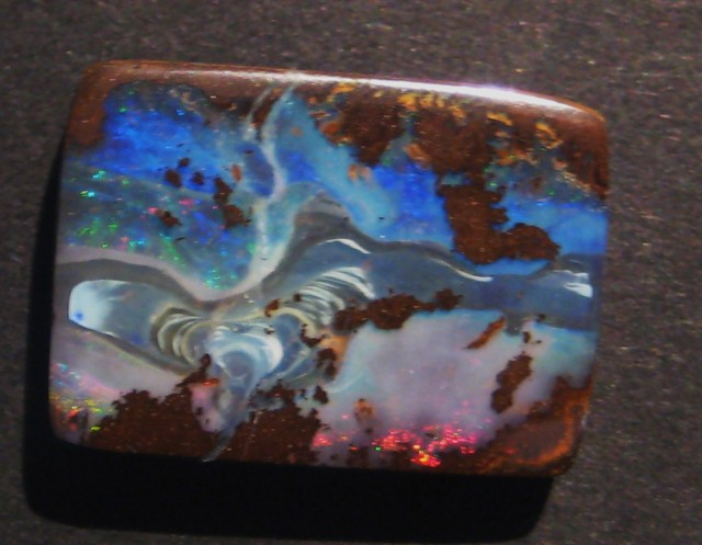 20.2ct Australian Queensland Boulder Opal Solid, 22x16mm