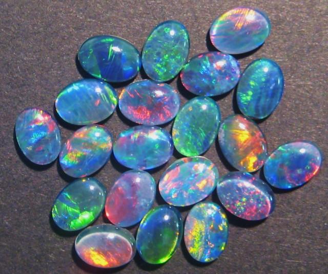 Parcel of 20 Australian Opal Triplets, 7x5mm