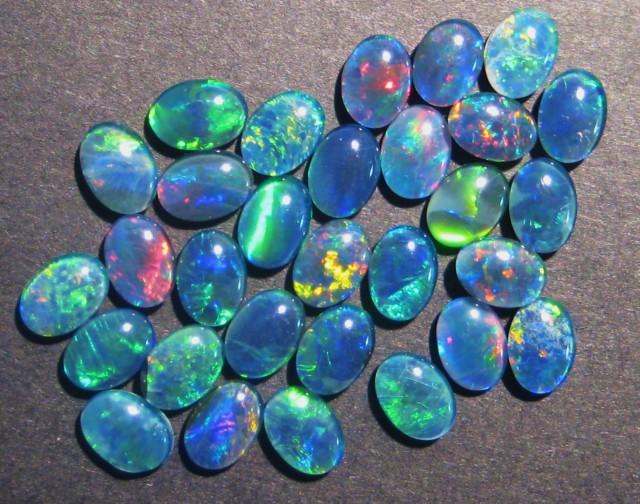 Parcel of 30 Australian Opal Triplets, 7x5mm