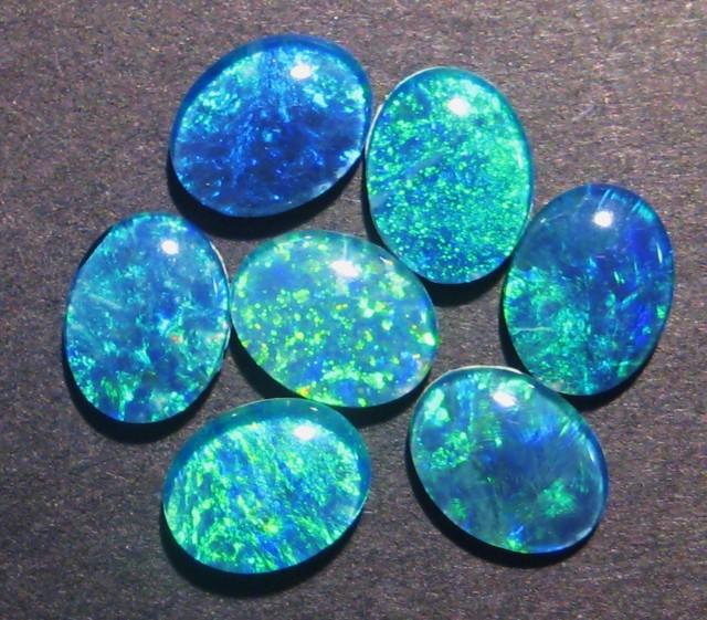 Parcel of 8 Australian Opal Triplets, 9x7mm