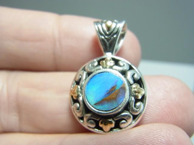 Very nice boulder opal pendant