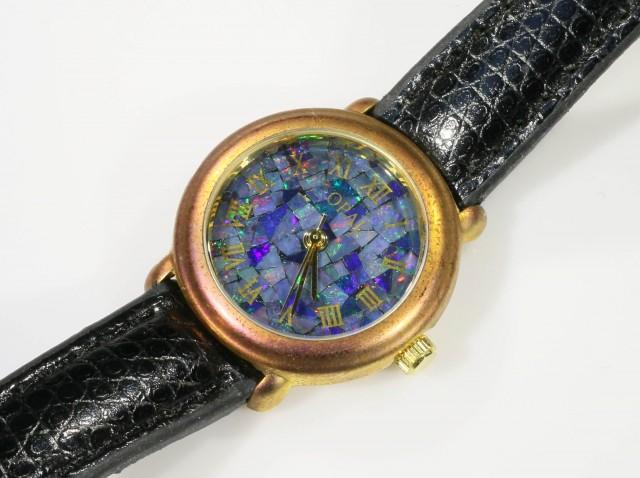 Ladies Opal watch Mosiac opal insert dial CF 6