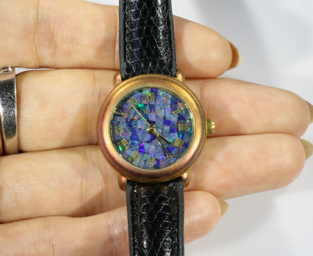 Ladies Opal watch Mosiac opal insert dial CF 623