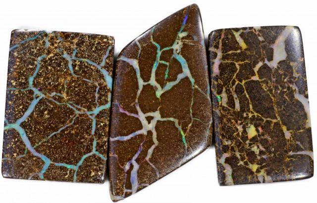 162 Cts Parcel three Boulder Yowah  opals CF 629