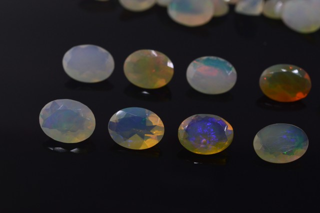 8x6mm Oval Calibrated Faceted Ethiopian Opal Parcel 162.1 cts 244 stones