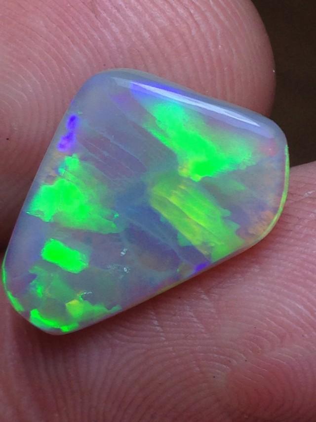3.19ct Lightning Ridge Gem Black Crystal Opal LR113