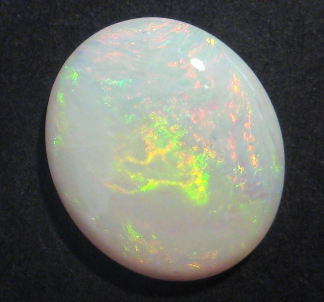5.5ct Pretty Australian Coober Pedy Opal Solid, 16x14mm