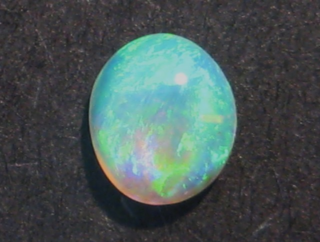 Australian Lightning Ridge Gem Crystal Opal Solid, 5 x 4.5mm