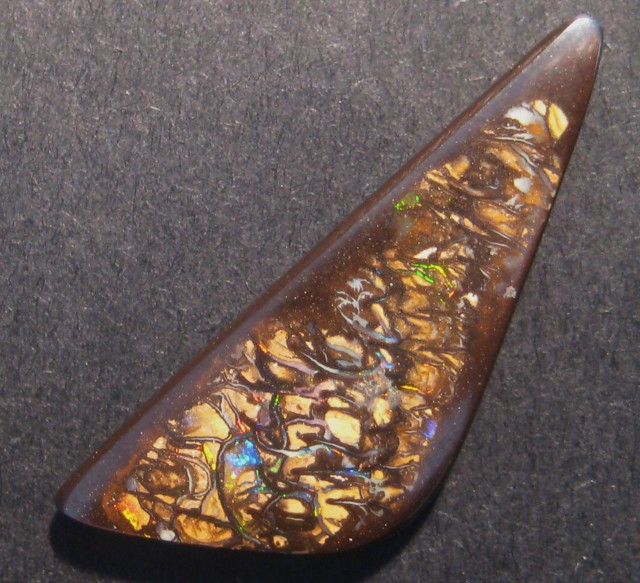 24.7ct Multicolour Australian Queensland Boulder Opal Solid